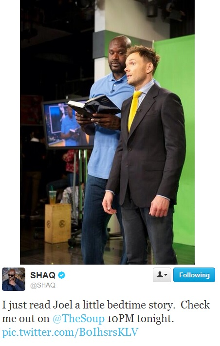 shaq and joel from the soup