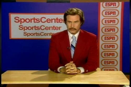 ron burgundy sportscenter