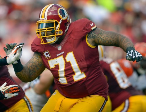 Trent Williams accused refs of bullying during the Eagles-Skins game on Sunday.