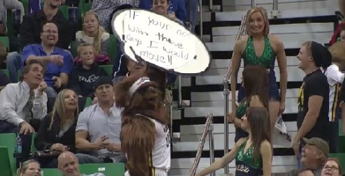 jazz bear mascot sign